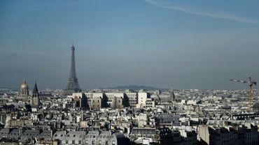 Vue de la ville de Paris, le 14 mars 2017