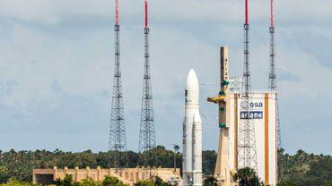 Le lanceur européen Ariane 5, sur son aire de lancement à Kourou, en Guyane française, le 15 novembre 2016
