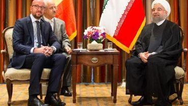 Assemblée générale de l'ONU - Charles Michel rencontre le président iranien Hassan Rohani à New York