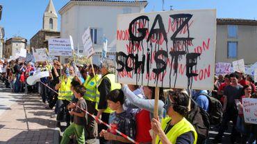 Manifestation en France contre l'exploitation du gaz de schiste