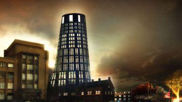 Le futur hôtel de police tel qu'imaginé par Jean Nouvel