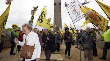 Des participants au pèlerinage de l'Yser en 2011
