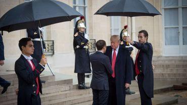 Donald Trump à son arrivée à l'Elysée