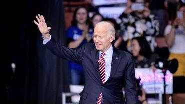 L'ancien vice-président Joe Biden en campagne pour la primaire démocrate du New Hampshire, le 8 février 2020