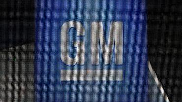 Le logo de General Motors, le 14 janvier 2014 à Detroit