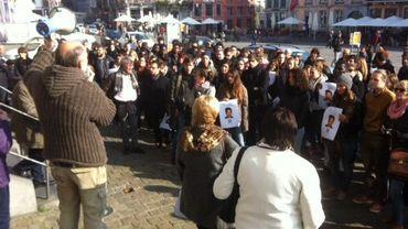 Manifestation silencieuse pour soutenir Louabatou