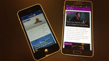"""Les nouvelles applications sont disponibles dès à présent dans les mises à jour du """"store"""" de votre smartphone. La mise à jour se fait automatiquement, en conservant vos choix en matière de notifications """"push""""."""