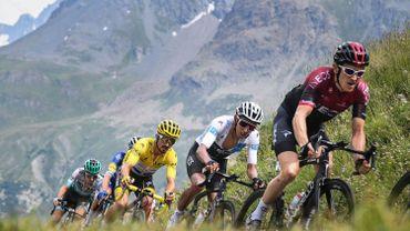 Geraint Thomas, Egan Bernal et Julian Alaphilippe lors du dernier Tour de France