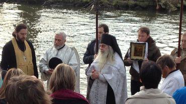Liège: grande bénédiction des eaux de la Meuse