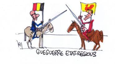 """Guerre PS-MR sur le budget: """"La N-VA se marre"""", assène Cheron"""