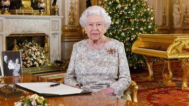 La reine Elizabeth II après l'enregistrement de son discours de Noël à Buckingham Palace, le 24 décembre 2018 à Londres