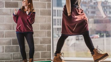 Le pull transformable en jupe