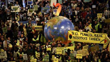 Manifestation contre le réchauffement climatique lors de la COP25, le 6 décembre 2019 à Madrid, en Espagne