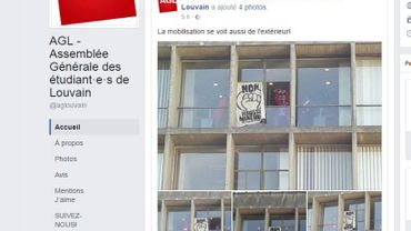 Une 15e d'étudiants occupent le 5e étage du rectorat cette nuit pour protester contre la hausse du minerval pour les étudiants hors Union européenne