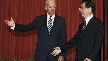 Joe Biden et le Président chinois Hu Jintao