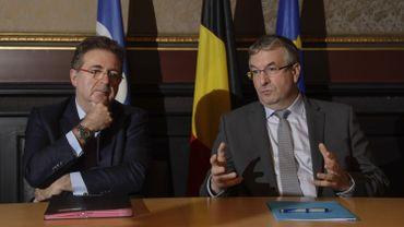 Rudi Vervoort et Pierre-Yves Jeholet