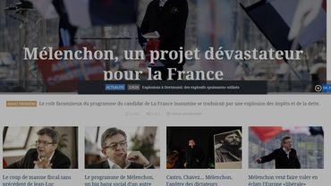Le Figaro et d 'autres ont fait des unes catastrophistes sur une possible élection de Jean-Luc Mélenchon