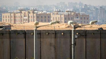Des bâtiments dans la bande de Gaza, depuis la frontière avec Israël, le 7 février 2017