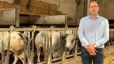 Clément Lambilotte, agriculteur à Thuin, a rempli sa déclaration de superficie ce vendredi matin