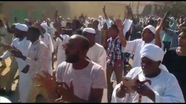 Manifestation à Omdurman, Soudan, le 22 décembre 2018