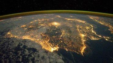 Photo prise par un cosmonaute et transmise par la NASA de la Péninsule Ibérique le 4 décembre 2011