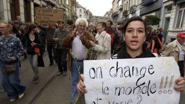 A Bruxelles, les militants se mobilisent pour l'arrivée prochaine de la Marche des indignés