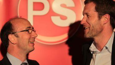 Les deux ministres-présidents PS, Rudy Demotte et Paul Magnette.