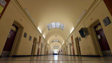 Un des couloirs de la prison d'Anvers