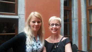 Marie-France Dupagne, attachée de presse et Nicole Gillet directrice du festival