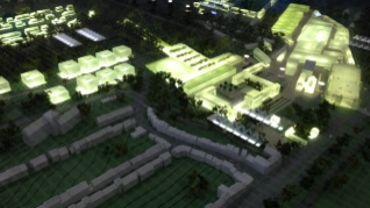 La maquette du Cristal Park.