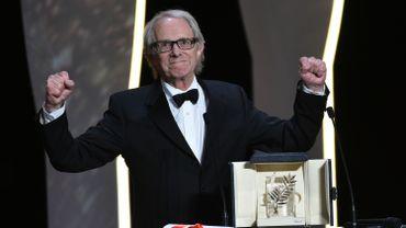 """Ken Loach reçoit la Palme d'or pour """"I, Daniel Blake"""""""