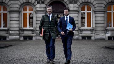 Les informateurs Coens (CD&V) et Bouchez (MR) chez le Roi ce 13 janvier