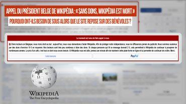 Le président de la section belge qui alimente Wikipédia lance un appel de détresse « sans dons, Wikipedia est mort ». Pourquoi ils ont besoin de sous alors que c'est gratuit et que le site repose sur des contributeurs bénévoles ?