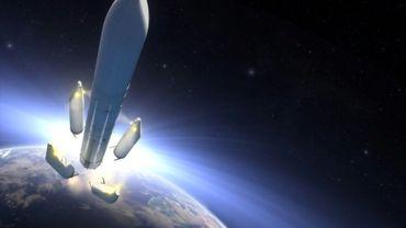 Illustration artistique de la future Ariane 6, le 13 septembre 2016
