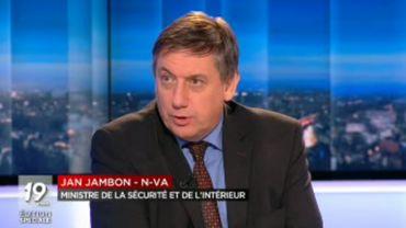 """Jan Jambon sur la menace terroriste: """"Le risque zéro n'existe plus"""""""