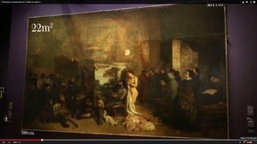 """""""L'Atelier du peintre"""" de Gustave Courbet va subir une restauration d'envergure estimée à 600.000 euros"""