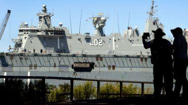 Un bâtiment de guerre de la Marine canadienne à Canberra.
