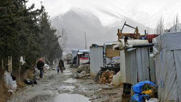 Photo de réfugiés syriens dans un camp de la vallée de la Bekaa, au Liban, le 31 janvier 2017
