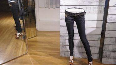 Un jean en vente dans une boutique de New York