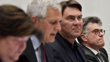 Maggie De Block, Kris Peeters, Denis Ducarme et  Herman Diricks, le directeur de l'Afsca.