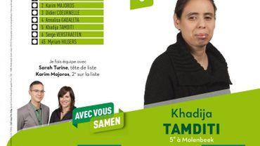 Khadija Tamditi, conseillère communale de Molenbeek, enceinte