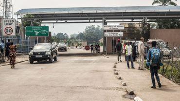 Cette image du 1er août 2019 montre le no man's land abandonné à la frontière entre la République démocratique du Congo et le Rwanda à Goma.