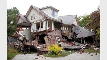 Une maison en ruines le 23 février 2011 à Christchurch