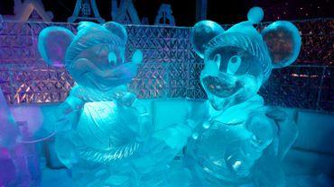 En 2013, le festival de sculpture de glace de Bruges présentait des œuvres en rapport avec les personnages de Disney.
