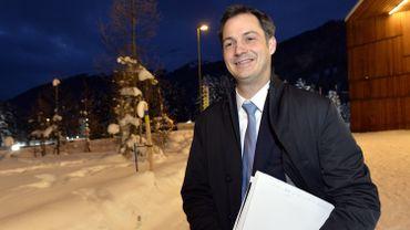 Alexander de Croo représente le gouvernement Michel à Davos