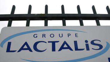 Entrée du siège du groupe Lactalis, à Laval (Ouest). Photo prise le 12 janvier 2018.