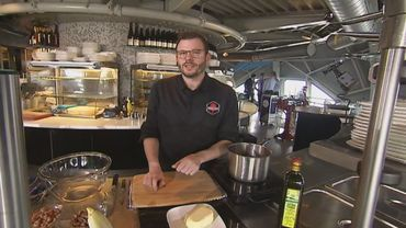 Bavarois de chicons aux crevettes...en direct de la cuisine de l'Atomium  !