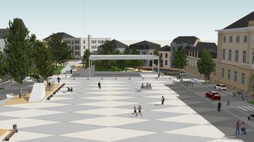 Voici ce à quoi devrait ressembler la Place Léopold d'Arlon dans le futur.