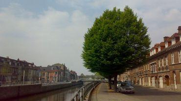 L'opération vise à extraire les véhicules qui se trouvent dans tous les cours d'eau de l'arrondissement. Illustration : Tournai.