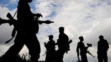 Des membres des Forces armées de la République démocratique du Congo (FARDC), le 9 novembre 2008